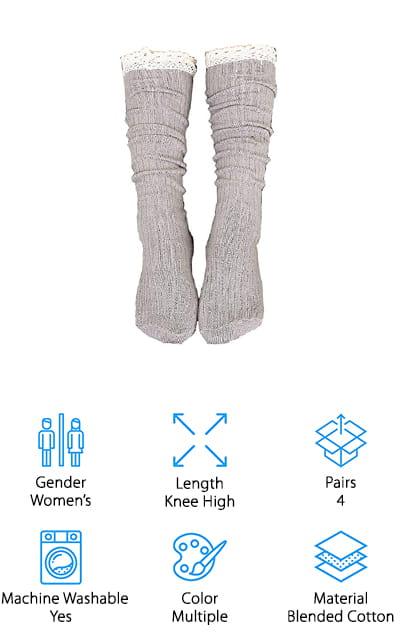 Gellwhu Knit Boot Socks