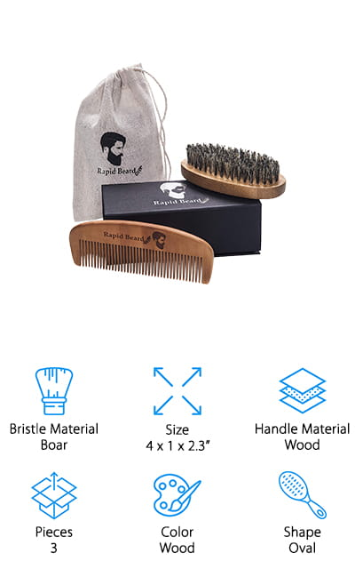 Rapid Beard Brush Set