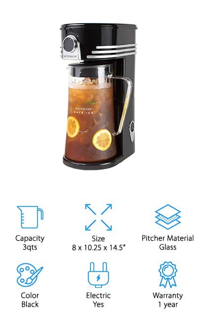 Nostalgia Café Iced Tea Maker