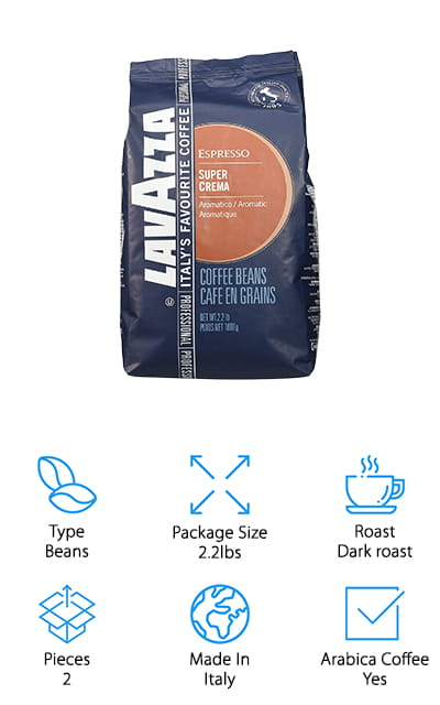 Lavazza Super Crema Espresso Coffee