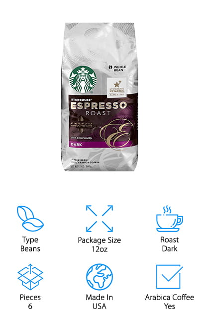 Starbucks Espresso Roast Dark Coffee