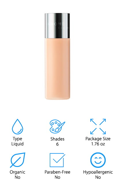 If you're looking for a cruelty- free foundation that has a light coverage profile, you're going to love the Undone Beauty Glow Tint. It's a foundation that doesn't give you complete coverage so that you can choose to wear a lighter product rather than covering your entire natural look. You can use it to blur away imperfections that you want to get rid of, as well as to enhance the shape of your face. You can use it in your contouring routine or on its own to cover dark circles or smaller flaws. It's made with coconut extract for a natural glow and a dewy, non-greasy finish. In addition to being cruelty-free, Undone's Beauty Glow Tint is also Vegan. If that's important to you, this is one of the best products that you can get! There are 6 light-coverage shades that you can easily match your skin tone, and with such sheer coverage, it's easy to find a match.