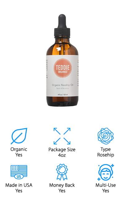 Teddie Organics Rosehip Oil