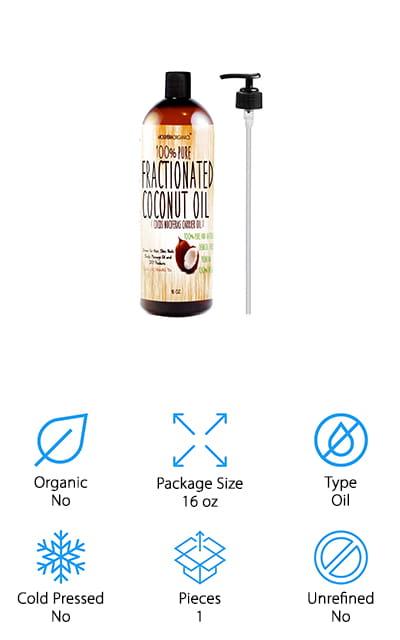 Molivera Organics Coconut Oil