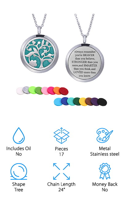 Mtlee Oil Diffuser Necklace