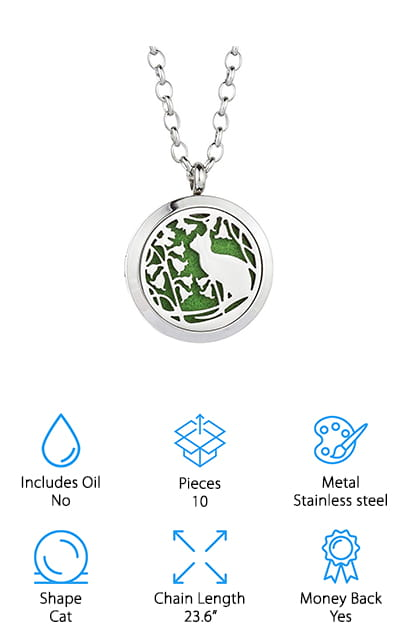 Jenia Oil Diffuser Necklace