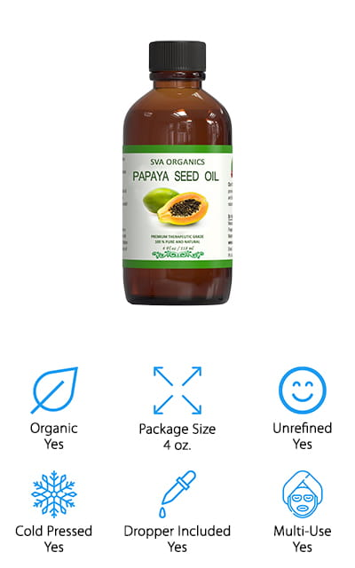 SVA Organics Papaya Seed Oil