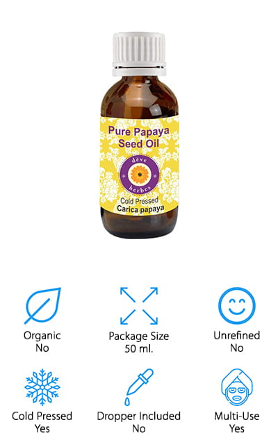 This papaya seed oil is 100% natural and therapeutic grade, which means you can feel better about using it however you want. It's also cold pressed, which helps it to retain more of the healthy nutrients that you're looking for. Great as a carrier oil, it's some of the highest quality that you'll find. You can use it for your favorite products including making your own soaps and candles. You can also mix it with other essential oils to create beautiful scents for aromatherapy. No matter what you're looking to do, the scent of this oil is definitely going to be one thing that draws you to it and makes you want to give it a try. All you're going to need is a dropper to disperse just the right amount every time. Of course, you may want to find some great recipes to help you figure out just what to do with this oil as well.