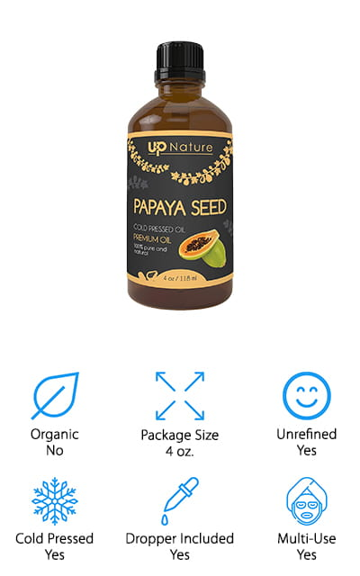 UpNature Papaya Seed Oil