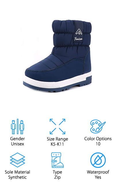 Femizee Toddler Snow Boots