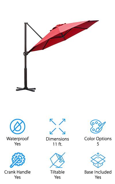 Abba Patio Cantilever Umbrella