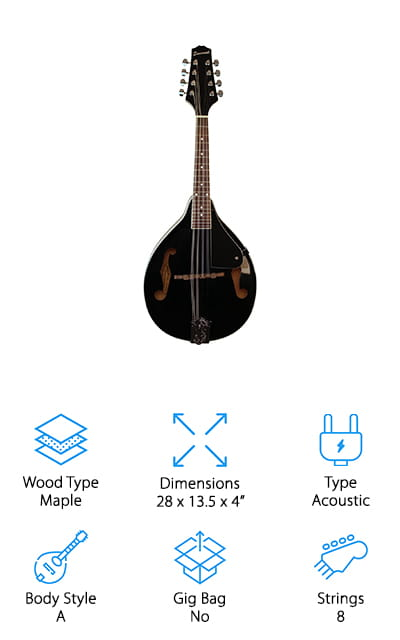 Savannah SA-100-BK Mandolin