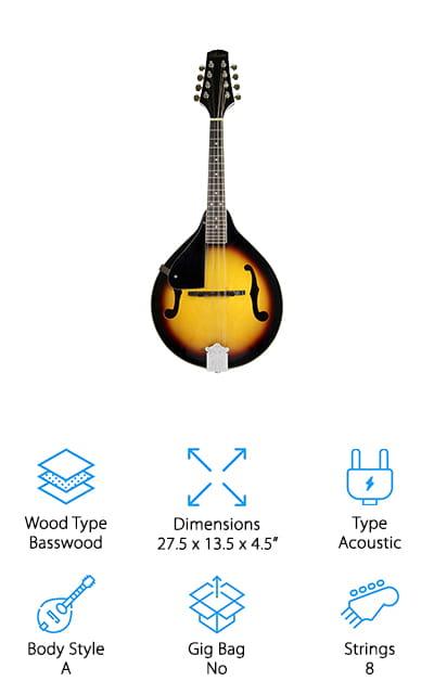 Barcelona Violinburst Mandolin