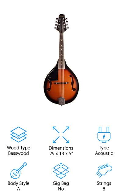 Stagg M20 Bluegrass Mandolin