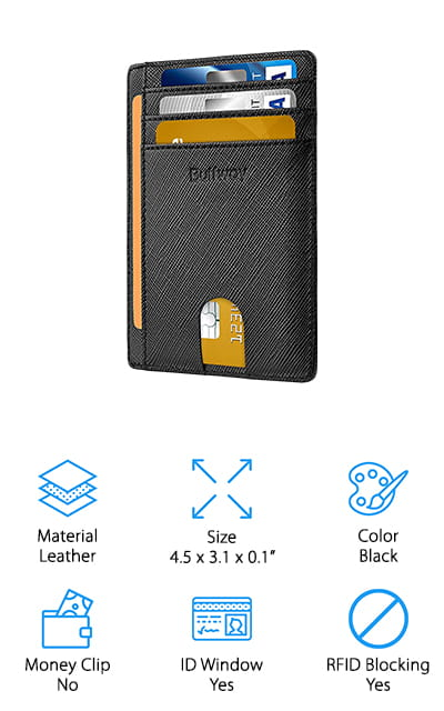 Buffway Minimalist Leather Wallet