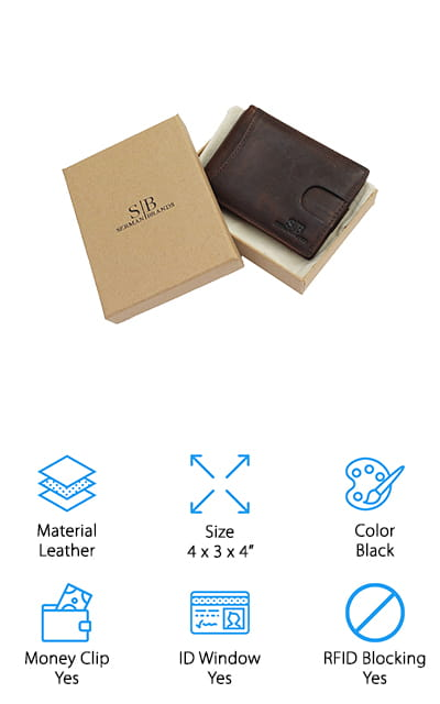 SERMAN BRANDS Bifold Slim Wallet