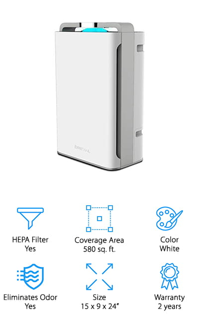 DREVAL 8 Stage Air Purifier Humidifier