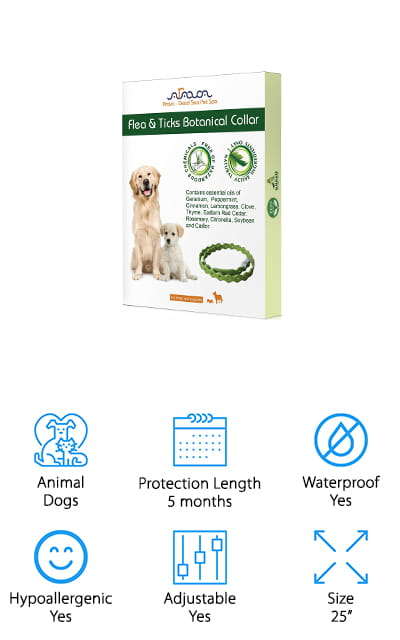 Arava Flea and Tick Prevention Collar for Dogs