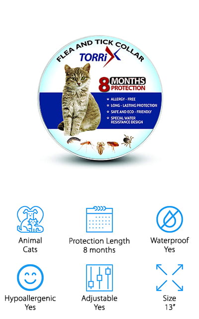 TORRIX Cats Flea and Tick Collar