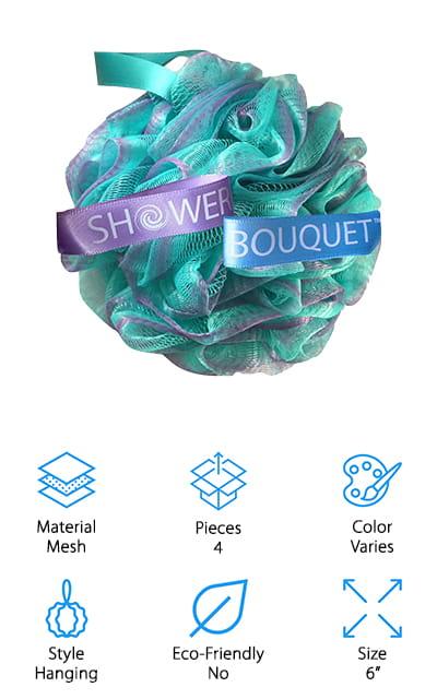 Shower Bouquet Loofah Sponge