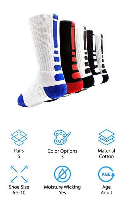 JIYE Elite Basketball Socks