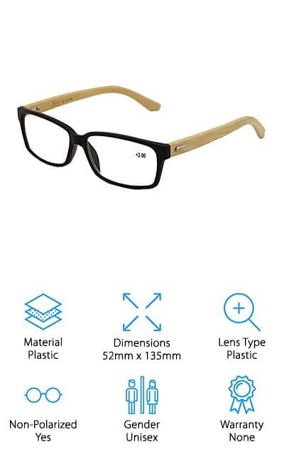 Vision World Bamboo Glasses