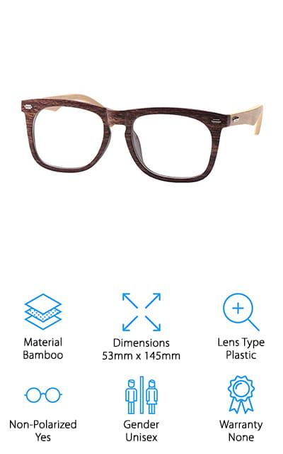 SOOLALA Wood Reading Glasses