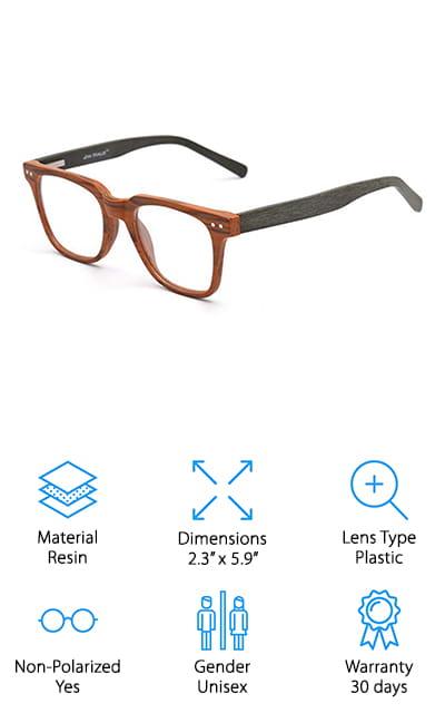 JIM HALO Wood Glasses Frame