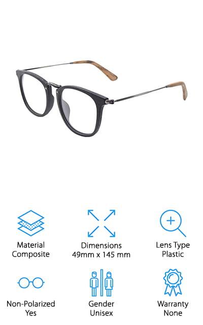 TIJN Retro Wood Eyeglasses