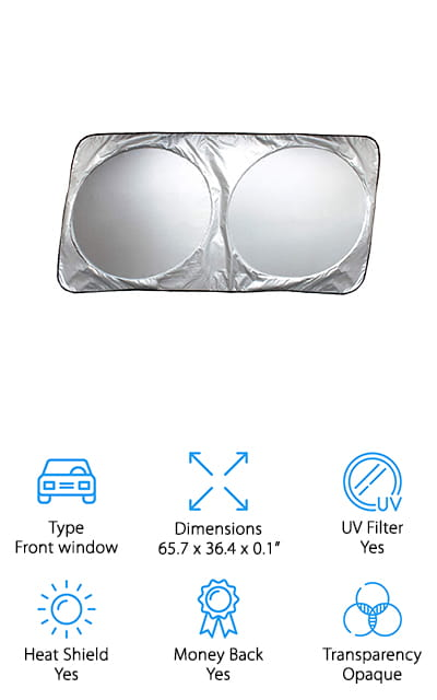 Magnelex Windshield Sun Shade