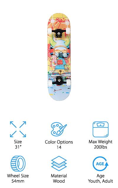X Free Beginner Skateboard