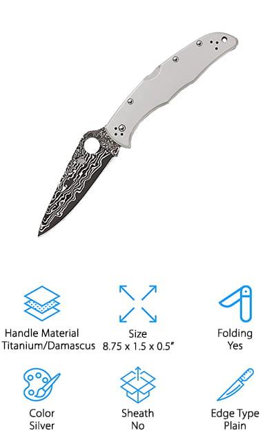 Spyderco Endura 4 Damascus Knife