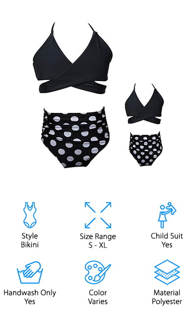 WIWIQS Mommy and Me Swimwear