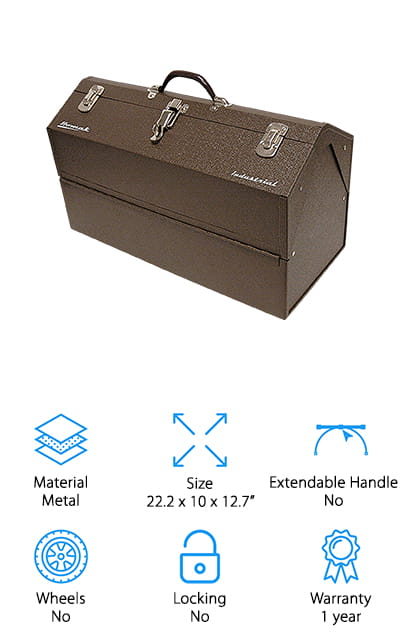 Homak Industrial Steel Toolbox
