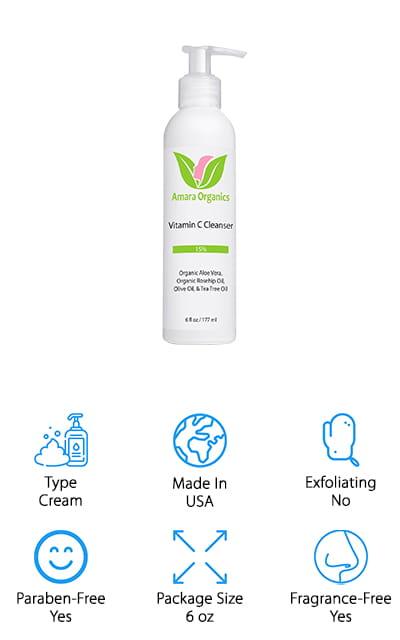 Amara Organics Facial Cleanser