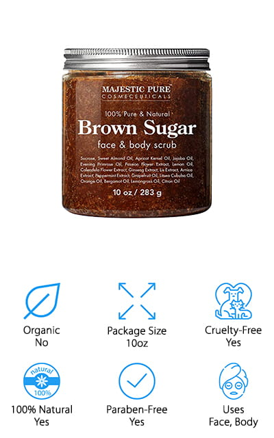 Majestic Pure Brown Sugar Scrub