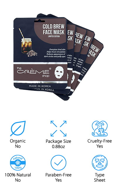 Crème Shop Cold Brew Face Mask