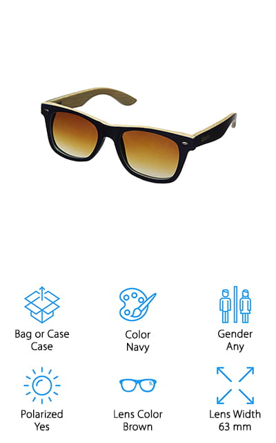 WOODIES Bamboo Wood Sunglasses