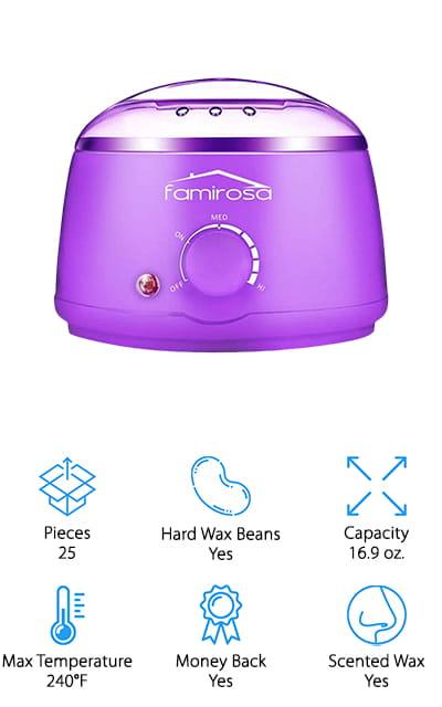 FAMIROSA Wax Warmer Kit