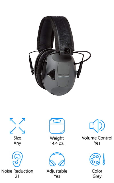 These top shooting ear muffs have a noise reduction rating of 21 dB, which means they're going to block out a whole lot of the extra noise that you definitely don't want. On top of that, they can amplify the voices and other ambient sounds that you hear around you. That way, you don't have to worry about missing anything but you also don't have to worry about hearing damage because of the shots. You're going to have a super comfortable headband and ear cups to make sure you can wear this set of ear muffs for an extended period without discomfort. The slim design of the cups is great for those shooting shotguns or even rifles and all you're going to need are batteries to get them up and running. If you forget to turn them off it's no problem either because there's a 4-hour auto shutoff feature that will take care of everything for you.