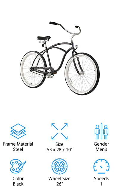 Firmstrong Urban Beach Cruiser Bike
