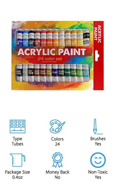 Benicci Acrylic Paint Set