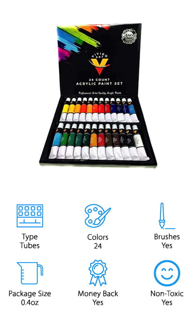Vivido Art Acrylic Paint Set