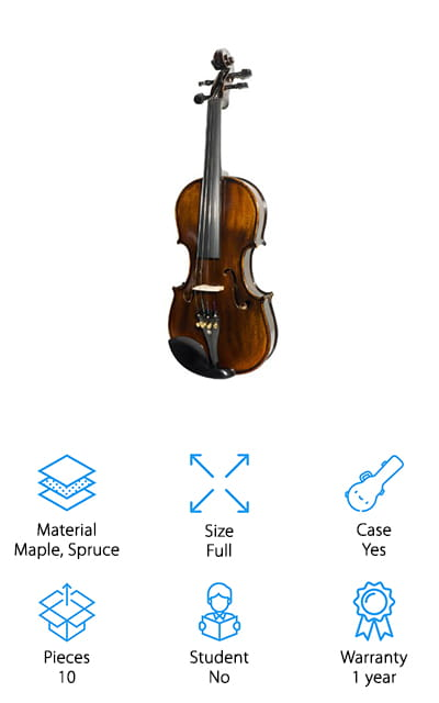 Mendini MV500+92D Wood Violin