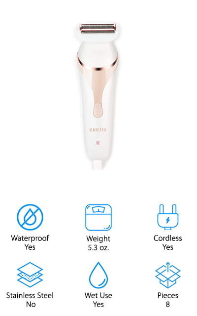 This 3-in-1 electric razor and skincare tool from Kakusii would make a great gift idea for the man or woman in your life who enjoys a little at-home pampering! This device comes with an electric razor head with 3 blades that trim and shave hair all over your body for a smooth, clean finish. It also comes with a face brush, which you can use to cleanse your skin so serums and lotions penetrate more effectively. We also like the facial massage tool you can use to relax your face muscles, encourage drainage, and work in skincare products. You can get a full spa treatment at home with just one device – and at a fraction of the cost of a day at the spa! It only takes 3 hours to fully charge, and runs up to 1 hour, which is plenty of time to take care of all your skincare and hair care needs!