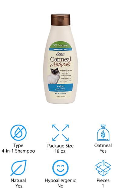 Oster Oatmeal Naturals Cat Shampoo