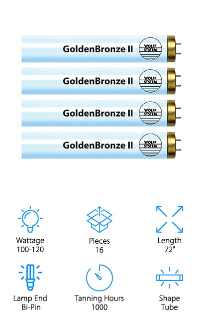 Wolff GoldenBronze II Tanning Bulbs