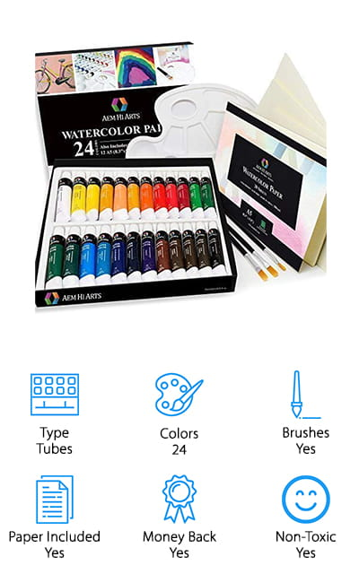 AEM Hi Arts Watercolor Paints