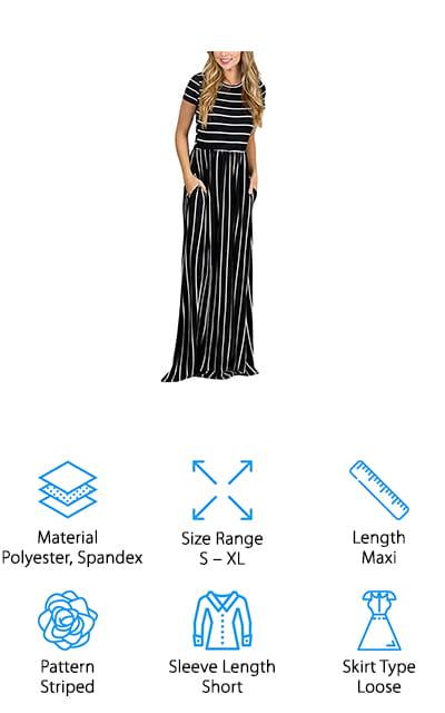 HOTAPEI Casual Pocket Maxi Dress