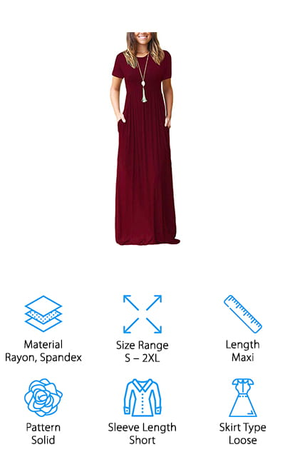 DEARCASE Loose Maxi Dress